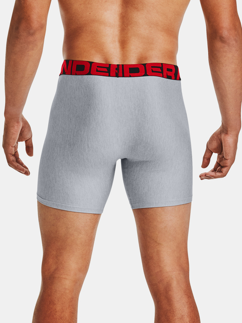 Boxerky Under Armour UA Tech 6in 2 Pack-GRY