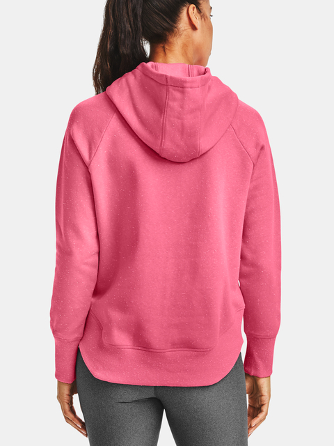 Mikina Under Armour Rival Fleece Metallic Hoodie-PNK