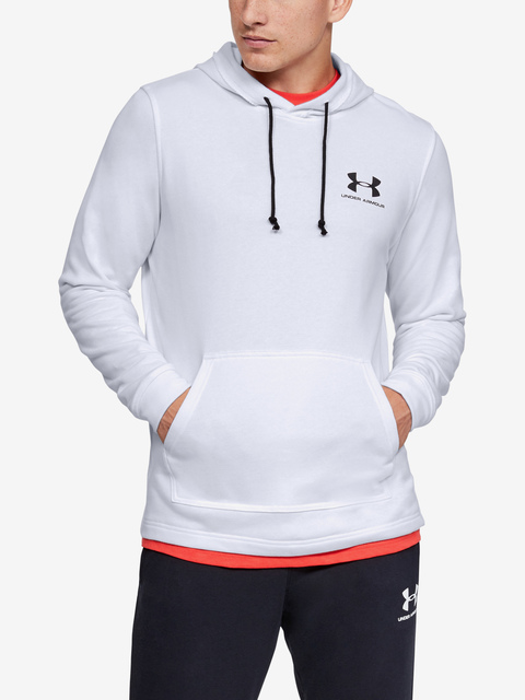Mikina Under Armour SPORTSTYLE TERRY HOODIE-WHT