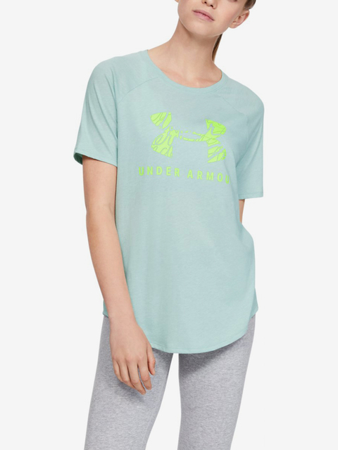 Tričko Under Armour Fit Kit Baseball Tee Graphic-Grn