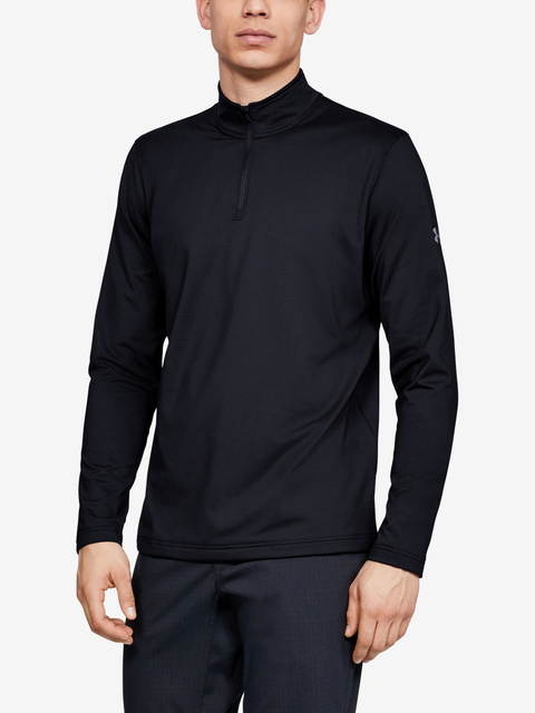 Tričko Under Armour LW 1/4 Zip-BLK