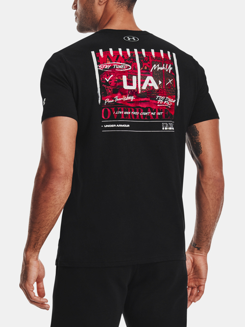 Tričko Under Armour Football Overrated T-BLK