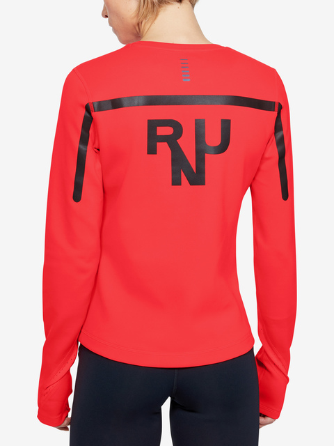 Trička Under Armour Qualifier Coldgear Long Sleeve-RED