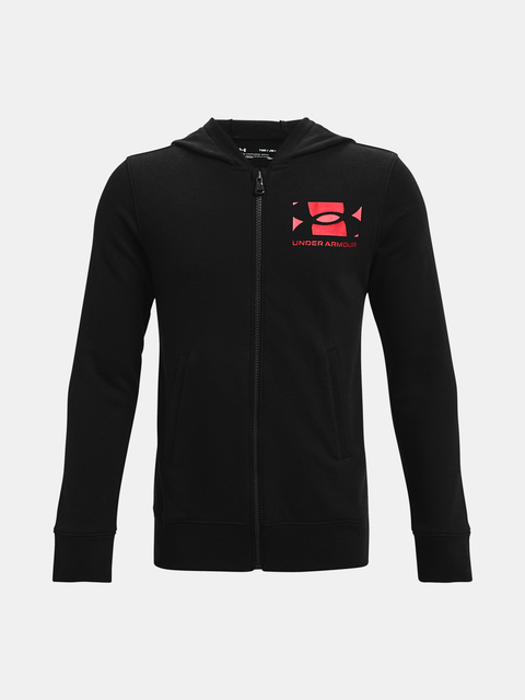 Mikina Under Armour UA RIVAL TERRY FZ HOODIE-BLK