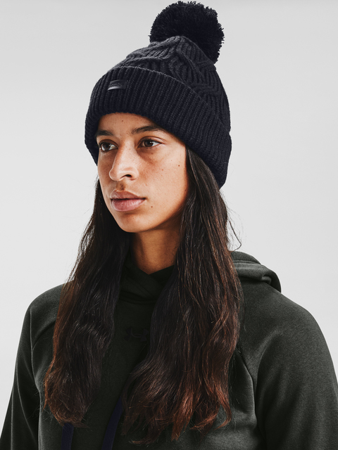 Čapica Under Armour Around Town Pom Beanie-BLK