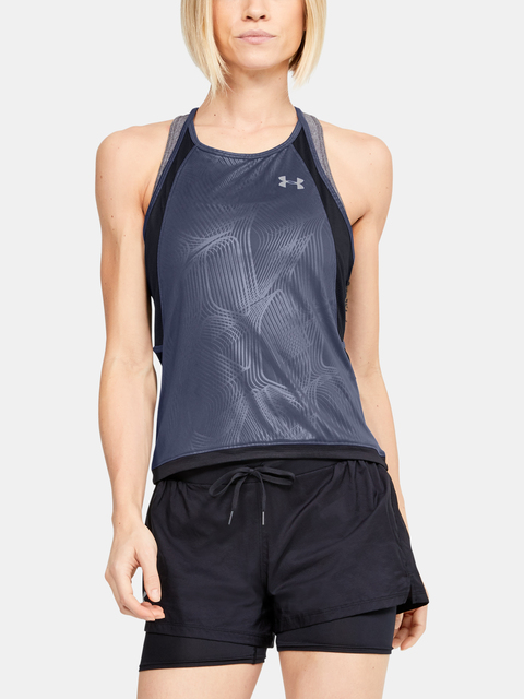 Tielko Under Armour W  Qlifier ISO-CHILL Embossed Tank-B