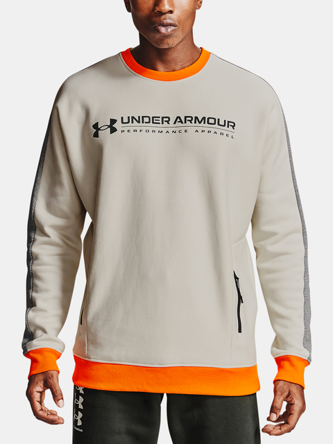 Mikina Under Armour Rival Fleece AMP Crew-WHT