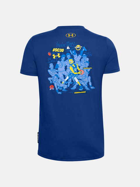 Tričko Under Armour Curry SELFIE 2.0 TEE-BLU