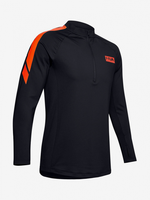 Tričko Under Armour Gametime Cg 1/2 Zip-Blk