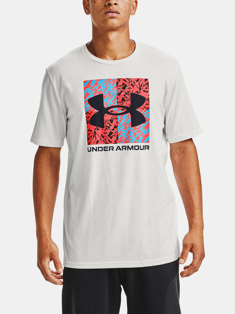Tričko Under Armour SHATTERED BOX LOGO SS-WHT