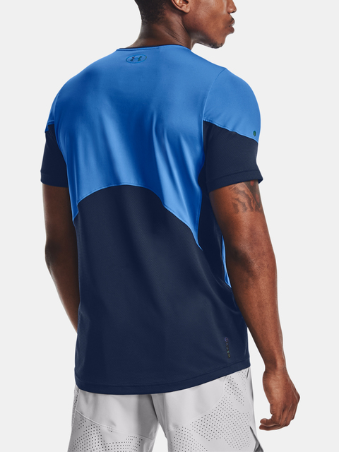 Tričko Under Armour HG Rush 2.0 SS-BLU