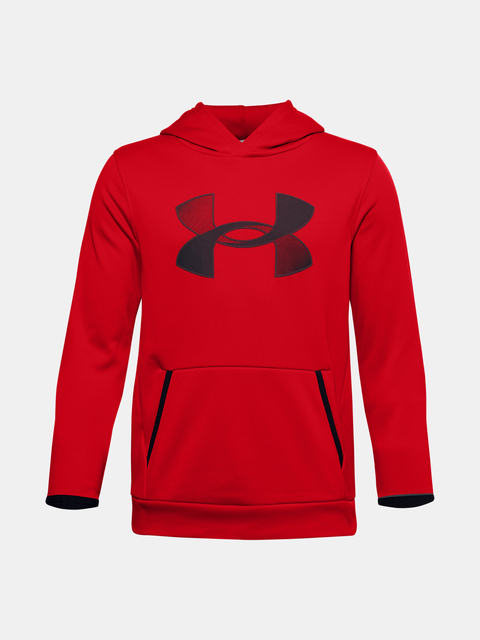 Mikina Under Armour ARMOUR FLEECE HOODIE-RED