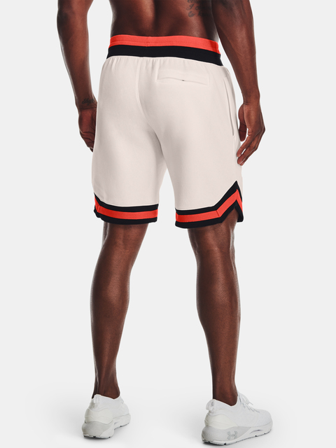 Kraťasy Under Armour RIVAL FLEECE AMP SHORT-WHT