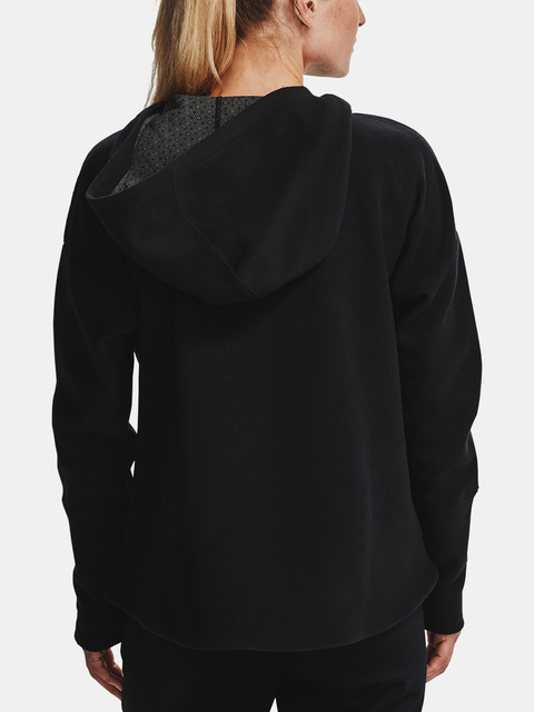 Mikina Under Armour Recover Fleece FZ Hoodie-BLK