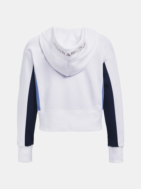 Mikina Under Armour Rival Fleece EMB Hoodie-WHT