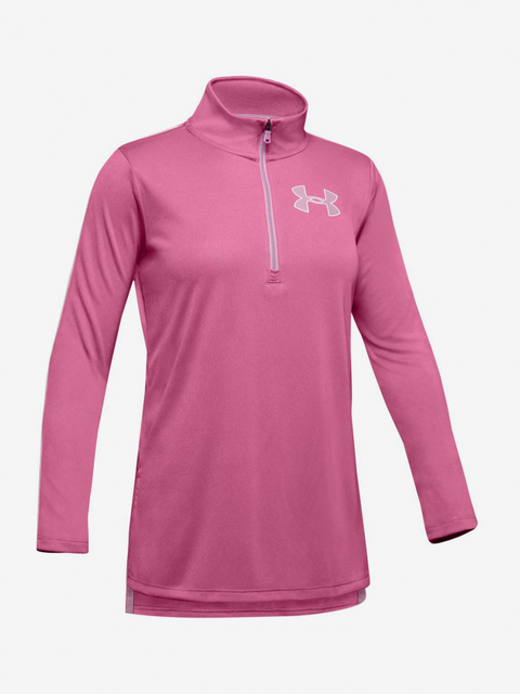 Tričko Under Armour Tech 1/2 Zip-Pnk