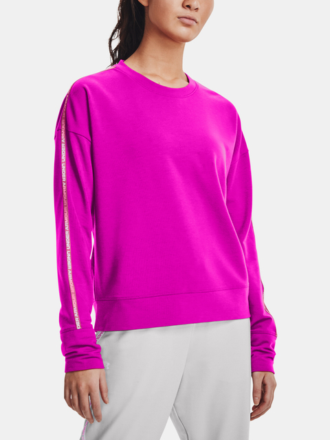 Mikina Under Armour Rival Terry Taped Crew-PNK