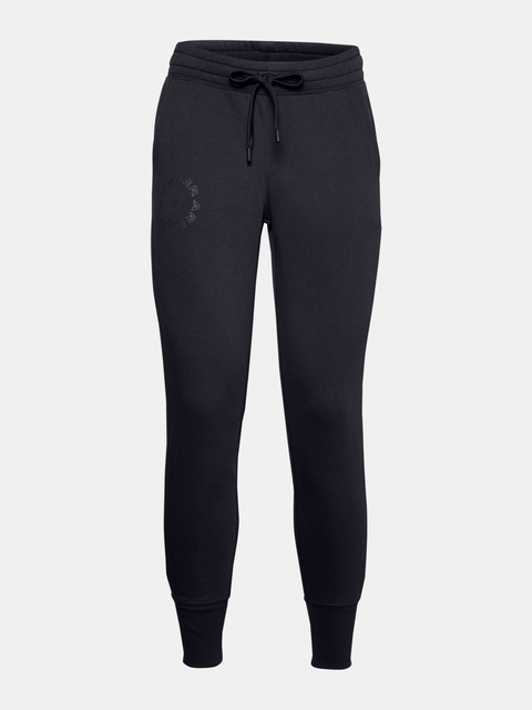 Tepláky Under Armour Rival Fleece Metallic Jogger-BLK
