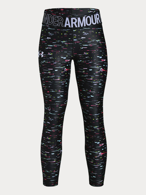 Legíny Under Armour Armour HG Printed Ankle Crop-BLK