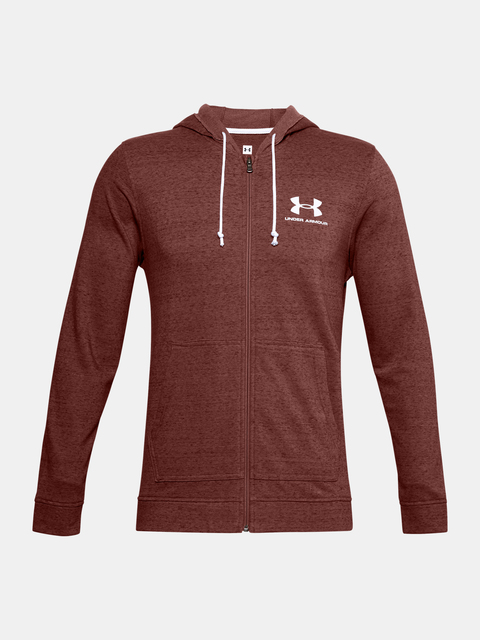 Mikina Under Armour SPORTSTYLE TERRY FZ-RED