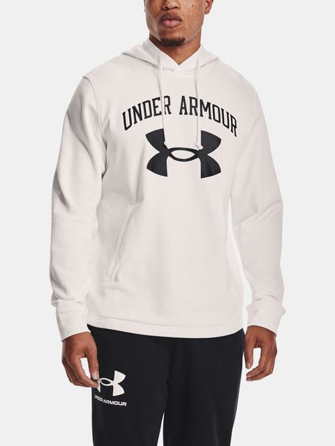 Mikina Under Armour RIVAL TERRY BIG LOGO HD-WHT