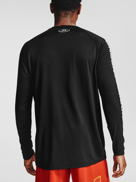 Tričko Under Armour TECH TRIPLE LOGO LS-BLK