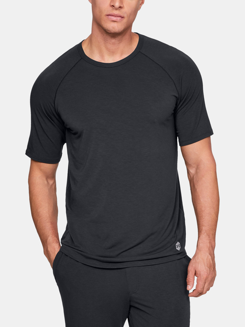 Pyžamo Under Armour UA Recover Sleepwear SS Crew-BLK