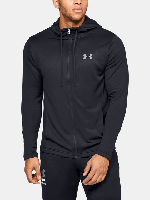 Mikina Under Armour Tech Terry FZ-BLK