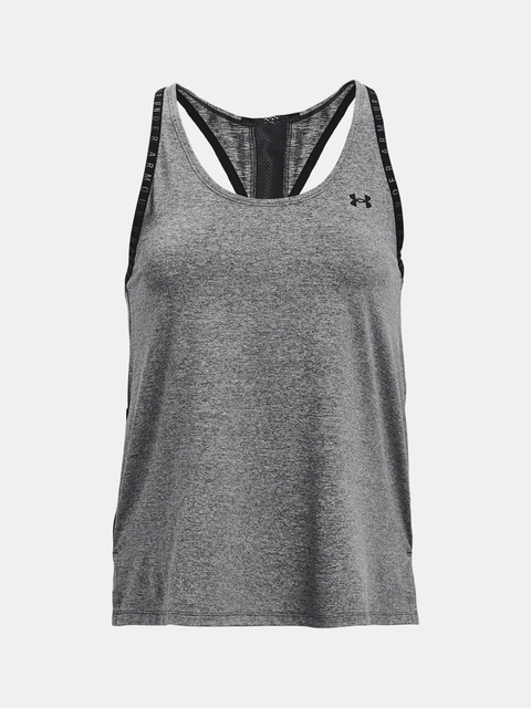 Tielko Under Armour Knockout Mesh Back Tank-GRY