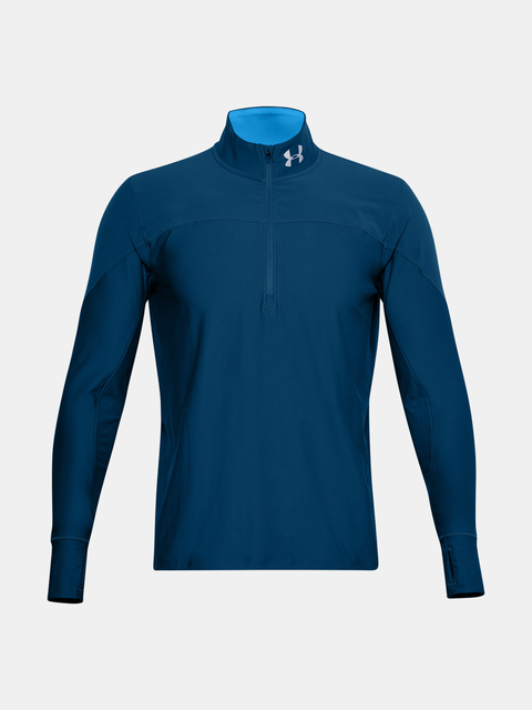 Tričko Under Armour UA QUALIFIER HALF ZIP-BLU