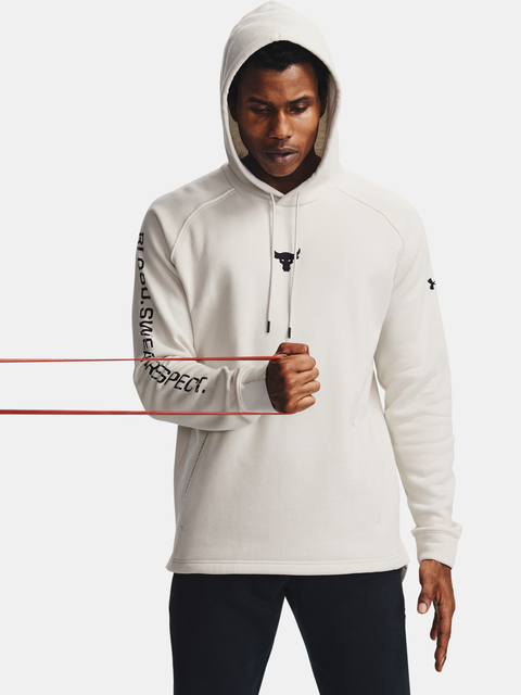 Mikina Under Armour Project Rock CC Hoodie-WHT