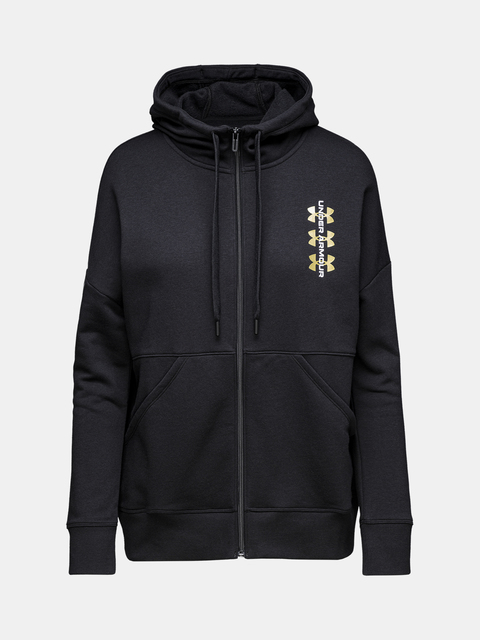 Mikina Under Armour Rival Fleece FZ Hoodie 12.1-BLK