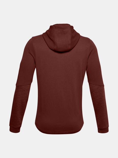 Mikina Under Armour DOUBLE KNIT FZ HOODIE-RED