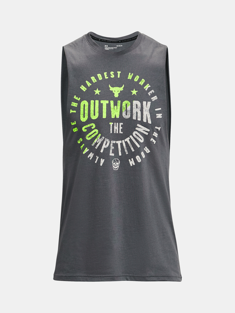 Tielko Under Armour Project Rock Outwork Tank-GRY