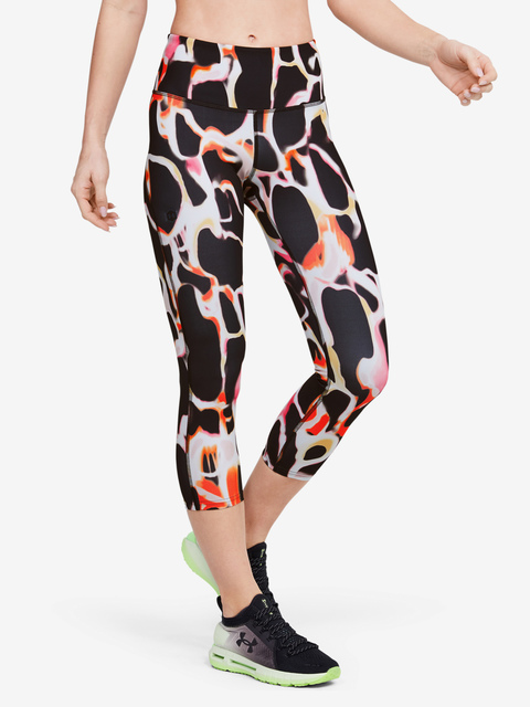 Kompresné legíny Under Armour Rush Electric Printed Crop