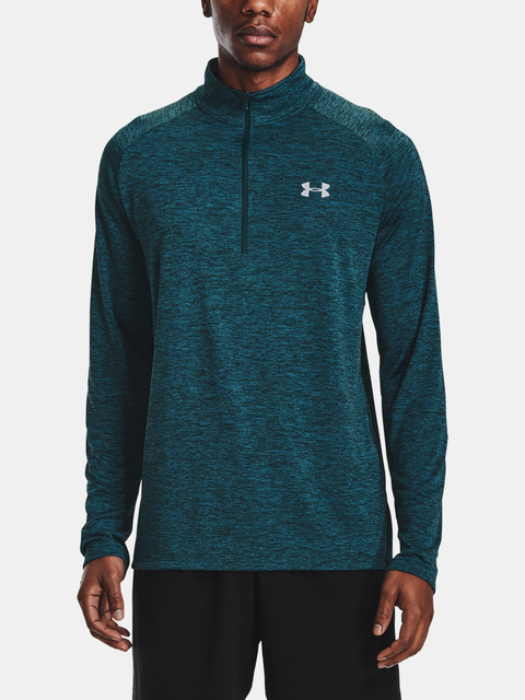 Tričko Under Armour UA Tech 2.0 1/2 Zip-BLU
