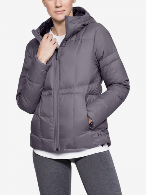 Bunda Under Armour Down Hooded Jkt-Gry