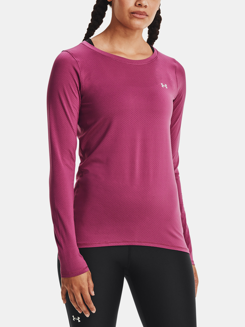 Tričko Under Armour HG Armour Long Sleeve-PNK
