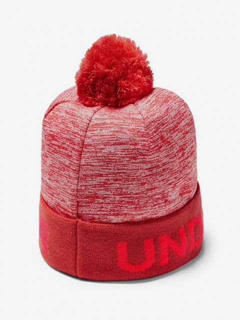 Čiapky Under Armour Boy\'S Gametime Pom Beanie-Red