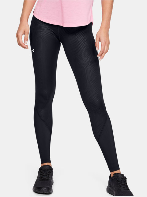 Legíny Under Armour W UA Fly Fast Embossed Tight-BLK