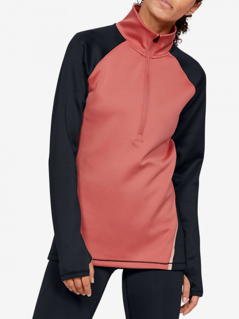 Tričko Under Armour Cg 1/2 Zip Color Block-Pnk