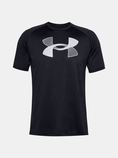 Tričko Under Armour UA BIG LOGO TECH SS-BLK