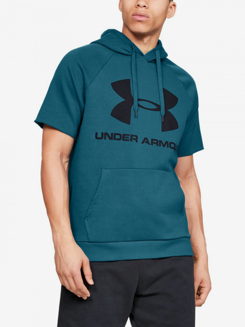 Mikina Under Armour Rival Fleece Logo Ss Hoodie-Grn