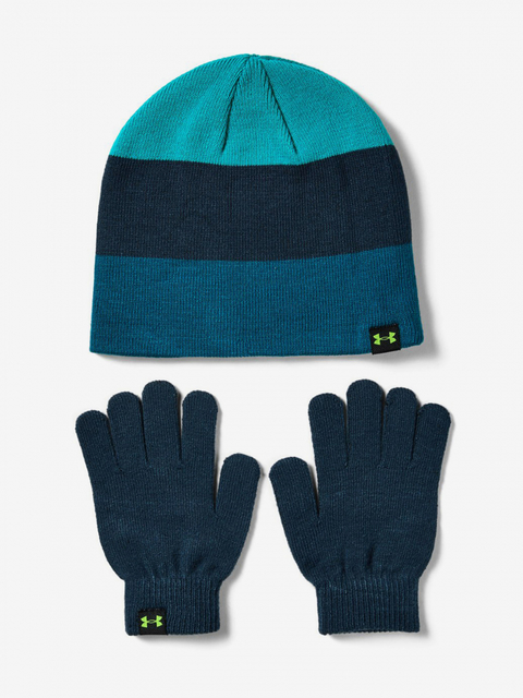 Čiapka a rukavice Under Armour Boys Beanie Glove Combo-GRN