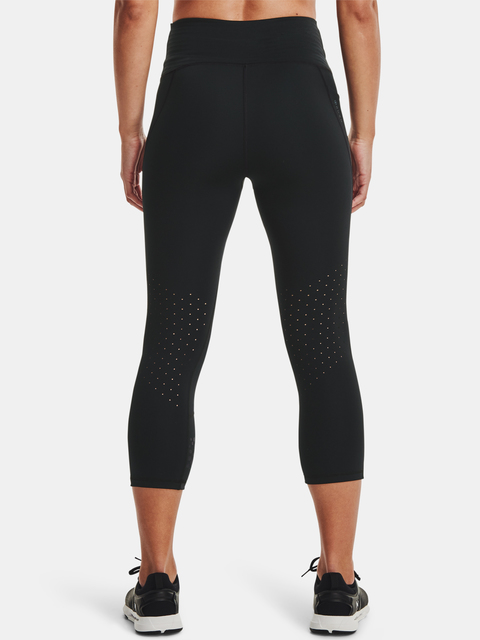 Legíny Under Armour Rush Tonal Capri PKT NS-BLK
