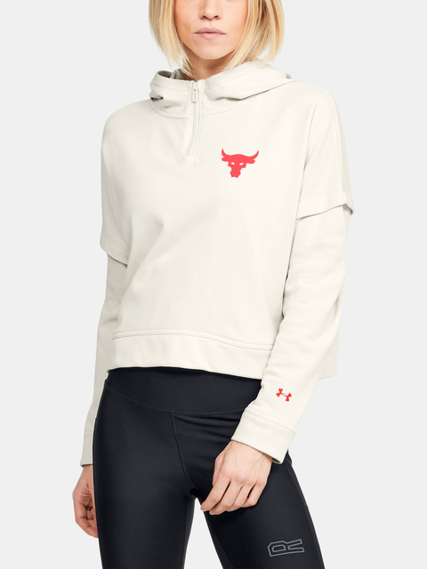Mikina Under Armour UA Project Rock Terry Hoodie-WHT