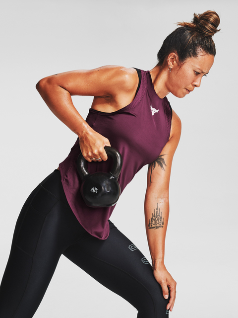 Tielko Under Armour Project Rock Perf Tank-PPL