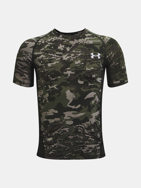 Tričko Under Armour UA HG Armour PRTD SS-GRN