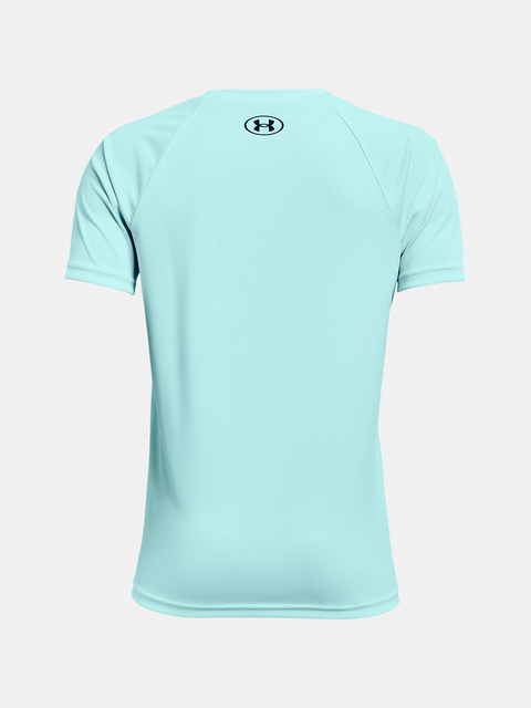 Tričko Under Armour Tech Hybrid Prt Fill SS-BLU