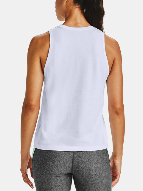 Tielko Under Armour Logo Graphic Muscle Tank-WHT